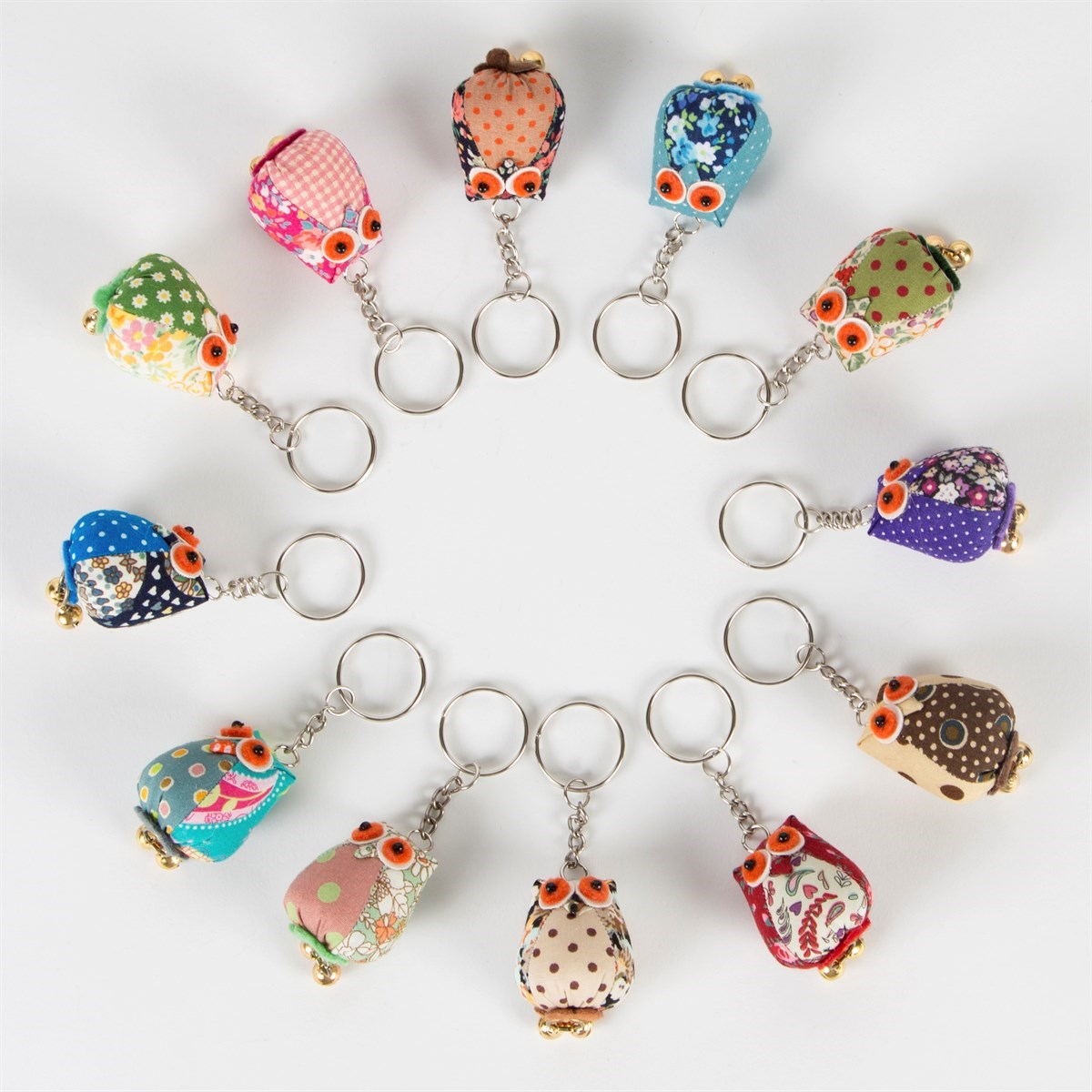 SASS AND BELLE VINTAGE MINI OWL KEYRING ASSORTED GIFT
