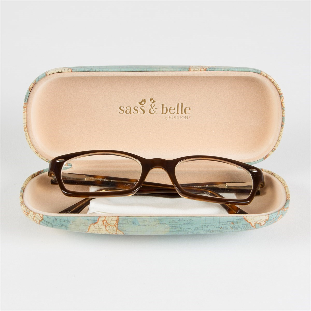 Sass /& Belle Floral Glasses Case Mint Grace