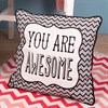 You Are Awesome Chevron Retro Cushion with Inner Alternative Image 2