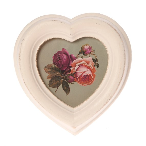 Antique Heart Photo Frame