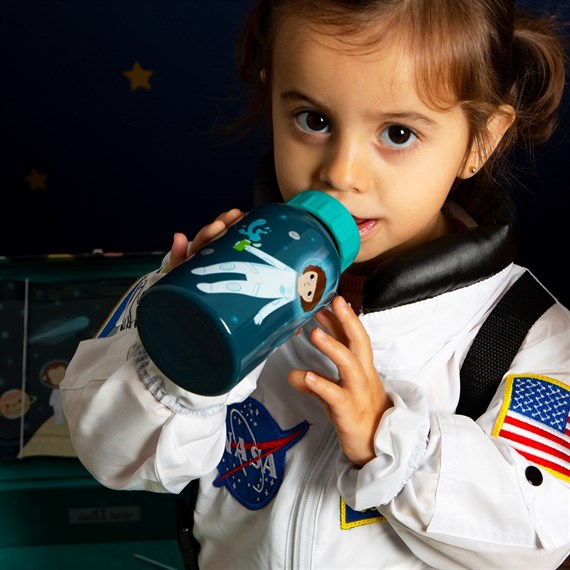 Space Explorer Kid's Water Bottle