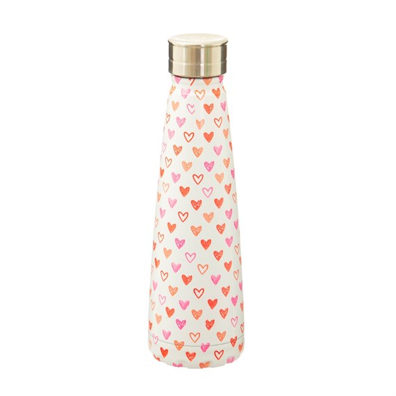 Red Love Heart Stainless Steel Water Bottle