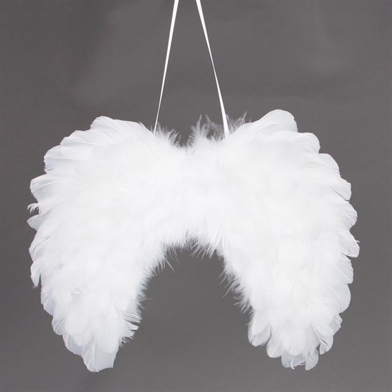 Snow Feather Wings Hanging Decoration Large