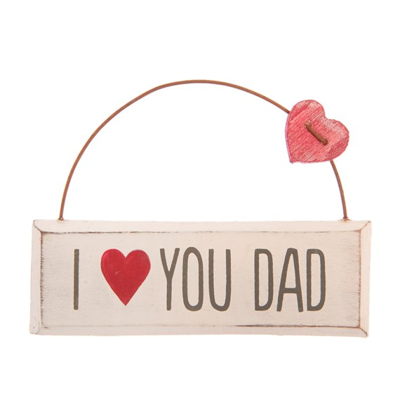I Love You Dad Mini Plaque