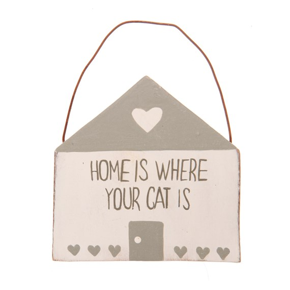 Home is Where Your Cat is Mini Plaque