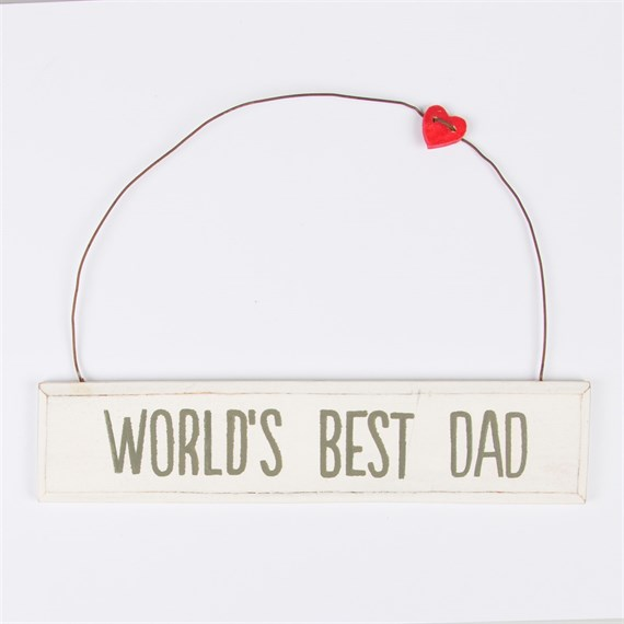 World's Best Dad Plaque Medium