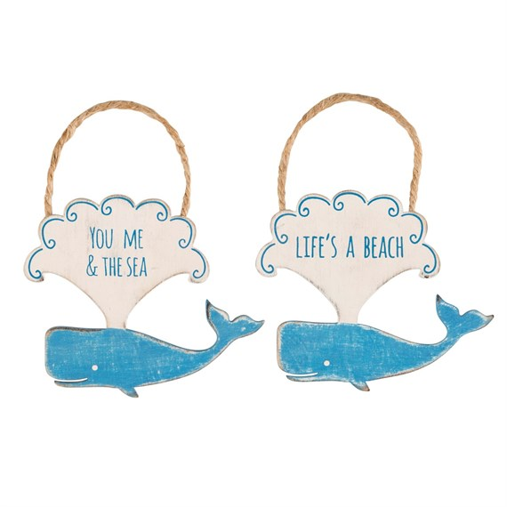 Happy Whale Hanging Decoration Assorted