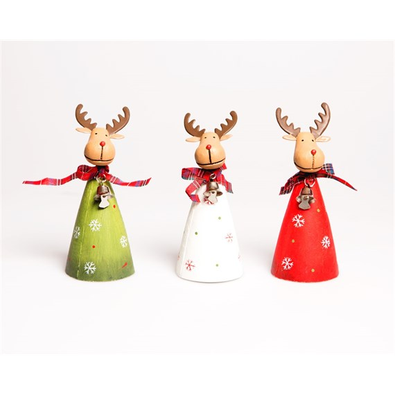 Christmas Rudolph Standing Decoration Assorted