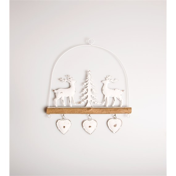 Wire Hanger with Deer & Tree Hanging Decoration