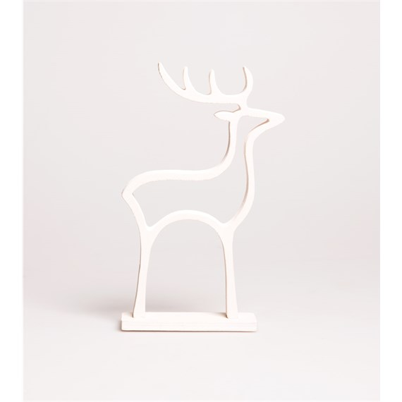 Minimal White Christmas Reindeer Decoration