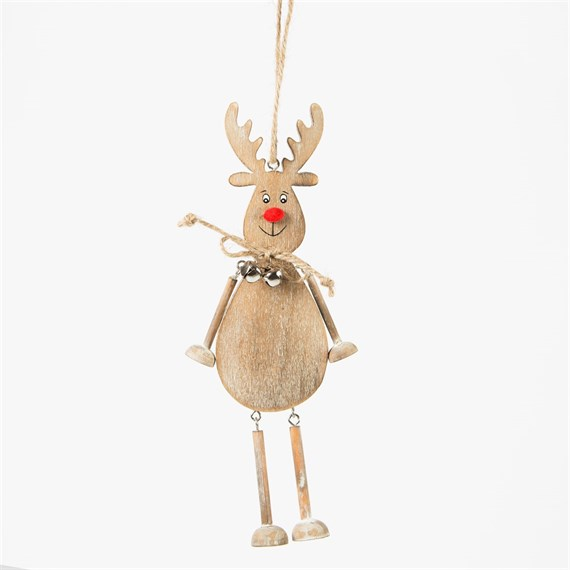 Rustic Rudolph Hanging Decoration