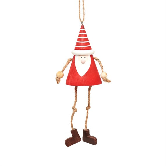 Hanging Santa Gnome With Dangling Legs