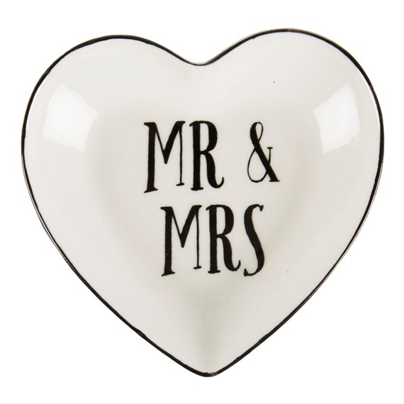 Mr & Mrs Heart Trinket Dish
