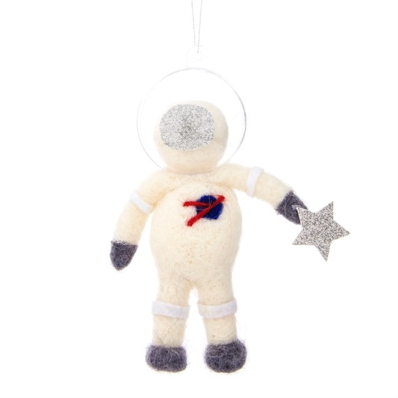 Outer Space Astronaut Hanging Felt Decoration