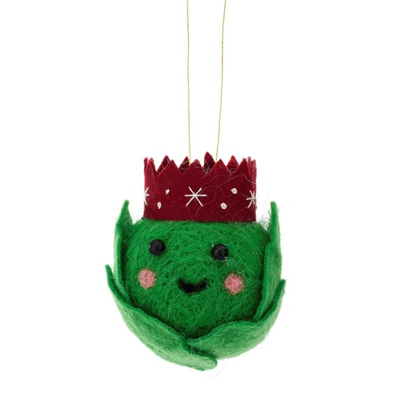 Fun Food Brussel Sprout Hanging Felt Decoration