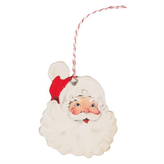 Set of 10 Cheerful Father Christmas Gift Tags