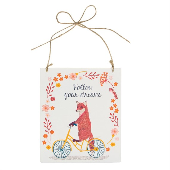 Follow Your Dreams Fox on  Bike Plaque