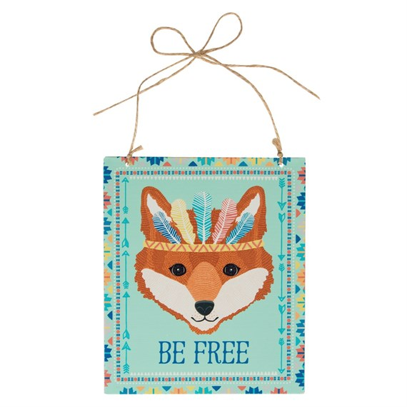 Be Free Fox Animal Adventure Plaque