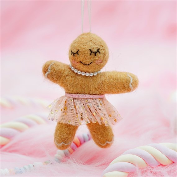 Wonderland Tutu Gingerbread Hanging Felt Decoration