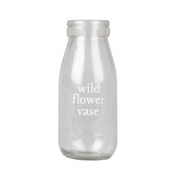 Wildflower Milk Bottle Vase