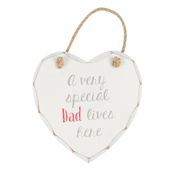 A Very Special Dad Lives Here Heart Plaque