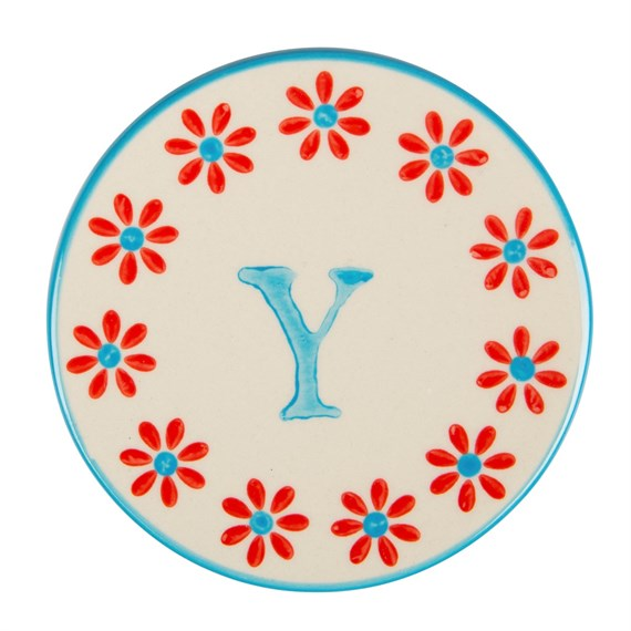 Bohemian Coaster Letter Y