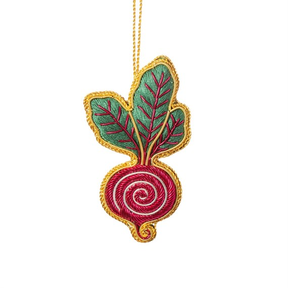 Beetroot Zari Embroidery Decoration