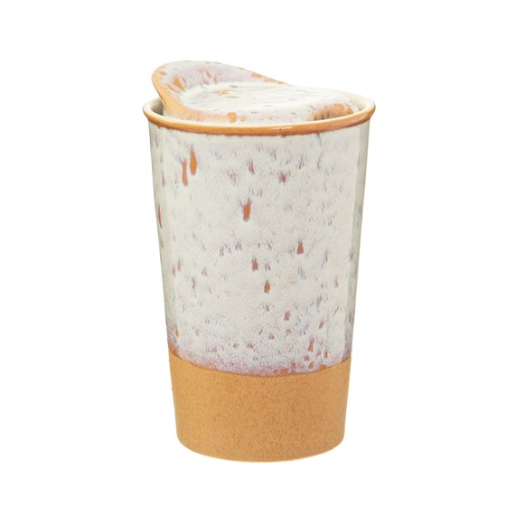 White Glaze Ceramic Travel Mug