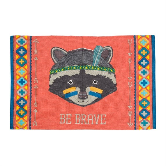 Be Brave Raccoon Animal Adventure Rug