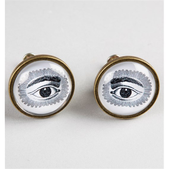 19th Century Eye Print Drawer Knob Assorted