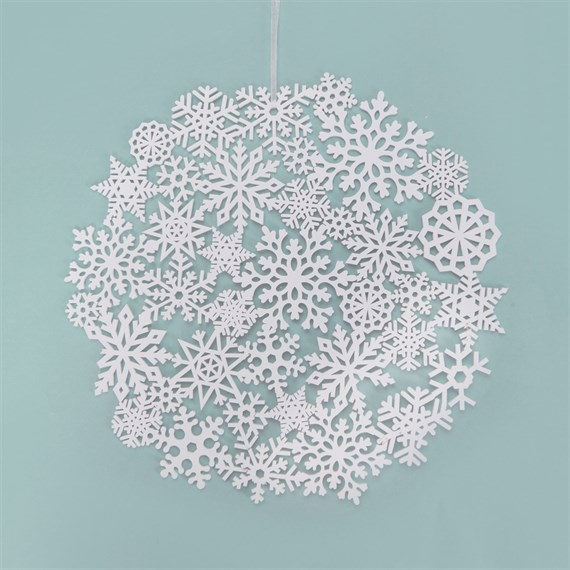 Winter White Snowflake-Large
