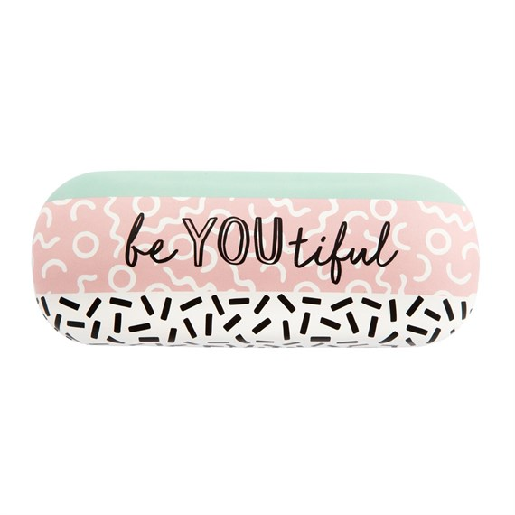 Memphis Modern Be You Beautiful Glasses Case