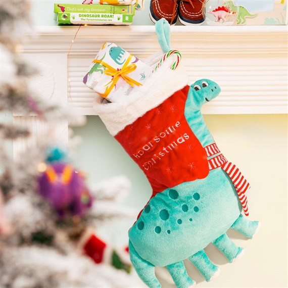 Roarsome Dinosaur Christmas Stocking
