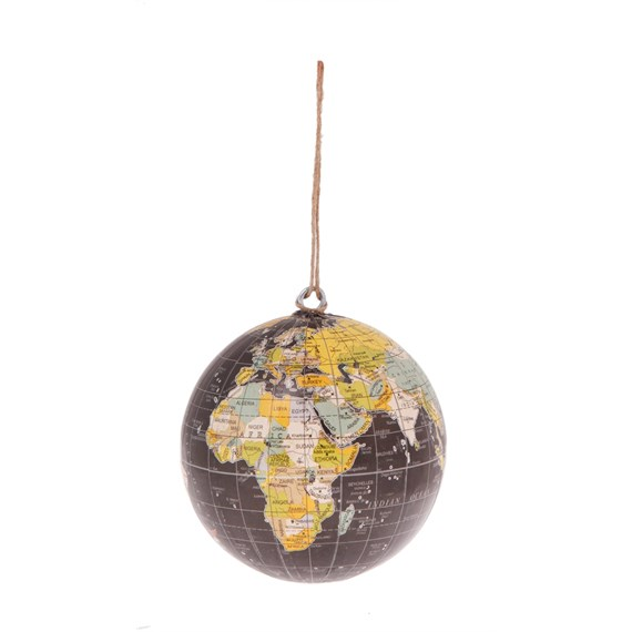 Vintage Atlas Hanging Decoration Black