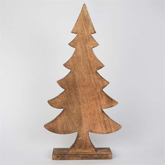 Tall Natural Wood Christmas Tree Standing Decoration Large