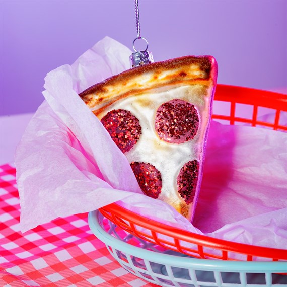 Pizza Slice Shaped Bauble