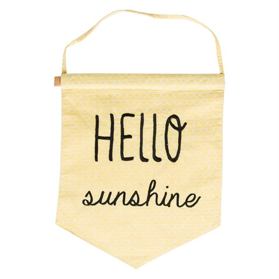 Hello Sunshine Pastel Message Flag