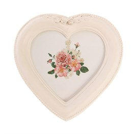 Antique Heart Ornate Photo Frame