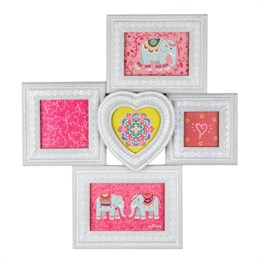 Mandala Elephant Five Multi Wooden Photo Frame