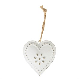 Cream Vintage Heart Hanging Decoration