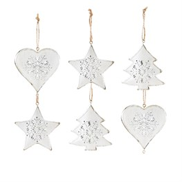 Set of 6 Hanging Decorations