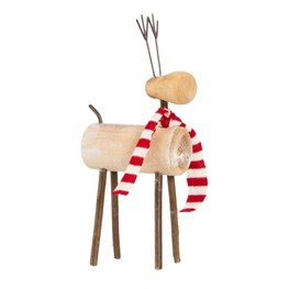 Reindeer with Stripy Scarf Decoration