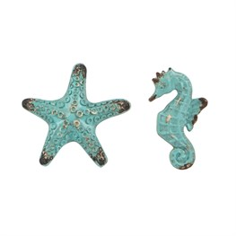 Vintage Starfish & Seahorse Drawer Knob Assorted