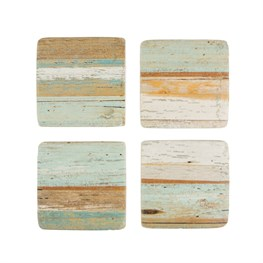 Set of 4 Coastal Chic Coasters