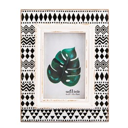 Scandi Boho Tribal Print Photo Frame