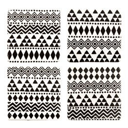 Set of 4 Scandi Boho Geo Tribal Coasters