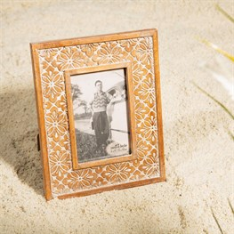 Geo Floral Carved Photo Frame