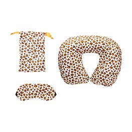 Leopard Love Travel Pillow And Eye Mask Set