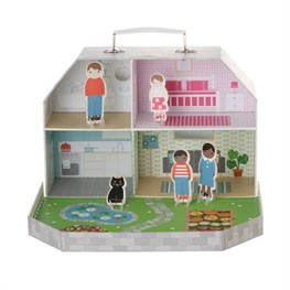 Let's Play Dolls House With Figurines Kids Toy