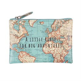 Vintage Map Little Purse for Big Adventures